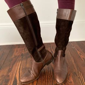 J. Crew Leather Suede Brown Boots Made in Italy